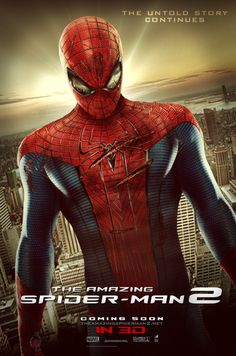 The Amazing Spiderman 2 comes out May 2 2014 SO excited!!!! @Caitlyn Sweeney Cagle, come with me to see it!