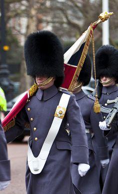A color guard of Grenadier Guards