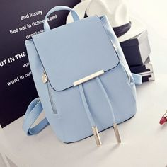 Cheap mochila escolar, Buy Quality women leather backpack directly from China leather backpack Suppliers: Womens Leather Backpacks Schoolbags Travel Shoulders Drawstring Backpack Korean Backbag Bag Travel Backpack Mochilas Escolares G Stylish Backpacks, Vintage Backpacks, Cute Backpacks, Leather Backpacks, School Backpacks, Girl Backpacks, Designer Rucksack, Fashion Bags, Fashion Backpack