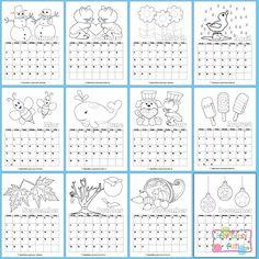 Printable 2015 Calendar for Kids to Color