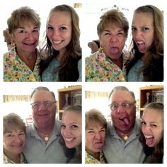 Being silly with Grandma & Poppy