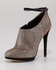 Sparkle Ankle-Strap Bootie by B Brian Atwood at Neiman Marcus.  Oooohhh!