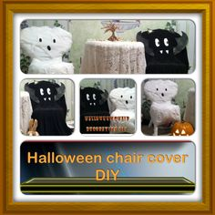 These are some simple (one time use) halloween chair covers! I just came up with 2 ideas to make my little sisters room very halloweeny because all she really had was a pumpkin. So i made a mummy chair cover and a bat chair cover. They were super simple and way easy to do & way cute! My little sister stared in awe at the little halloween surprise i gave her. (Im also making a DIY for the tree in on the table) I swear any one can do it! You should have a lot of this stuff in ur house if not…