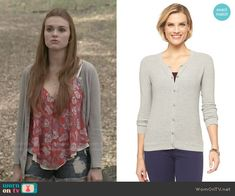 Lydia's grey cardigan on Teen Wolf.  Outfit Details: http://wornontv.net/51180/ #TeenWolf