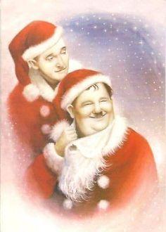 Stan Laurel Oliver Hardy, Laurel Und Hardy, Vintage Movie Stars, Vintage Movies, Lauren Hardy, Norman Wisdom, Photo Cutout, Christmas Photos, Disney Christmas