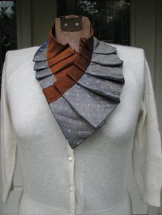 Silk Necktie Collar  Silk Necktie  Necklace  Unique by TieTandem