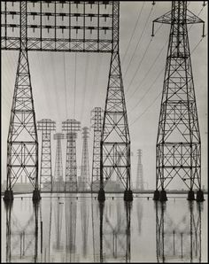 Will Connell Electrical Transmission Towers c. 1935. Gacougnol