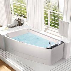 Petite baignoire d 39 angle et solutions pour petits espaces petite baignoire baignoires et - Baignoire deux places sans balneo ...