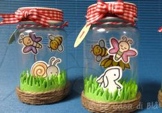 happy jars lawn, lawn fawn bee and butterfly Bugs and kisses clear stamps set and die cuts
