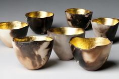 tea light holders... love the gold glow