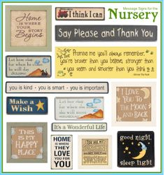Signs for Baby's Nursery  #SubliminalParenting