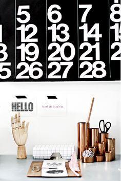Via Forever Love | Office | Hay Hand | Stendig Calendar | Copper