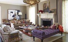 Traditional Living Room in Los Angeles, CA by Nathan Turner Inc