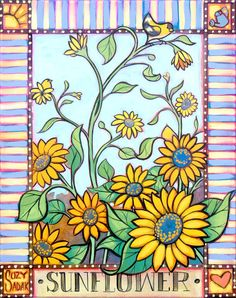 Sunflower original painting by Suzy Sadak. by SuzySadakFineArt
