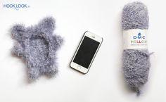 Mon iphone doudou avec sa coque ourson - HOOKLOOK. Méli-mélo d'idées en laine et au crochet.