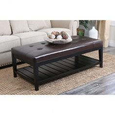 Perfect Wood Ottoman Coffee Table