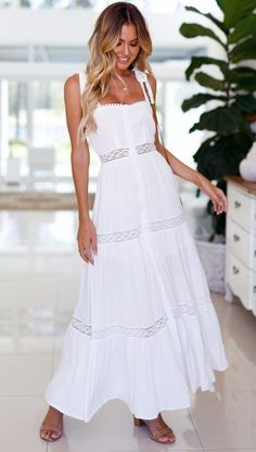 White Backless Maxi Dress. White Maxi Dress CasualSummer Maxi DressesBackless  ... 65e2ec5ae45f