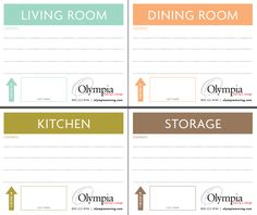 Free Printable Moving Box Labels | Olympia Moving & Storage