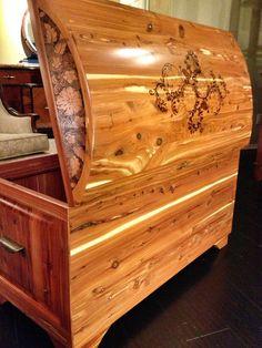 Handmade Cedar Chest Natural Finish Custom by ThreeManTigerArts