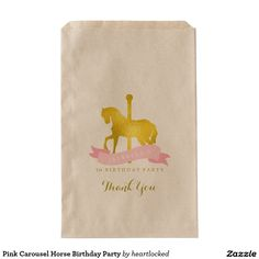 Pink Carousel Horse Birthday Party Favor Bags