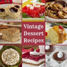 Retro Desserts: 16 Vintage Dessert Recipes | EverydayDiabeticRecipes.com Diabetic Meal Plan, Diabetic Desserts, Diabetic Recipes, Fun Desserts, Mr Food Recipes, Old Fashioned Recipes, Candy Cookies, Vintage Recipes, Desert Recipes