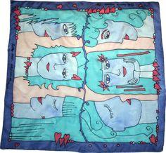 Šatka -obrázok do detskej izby na zarámovanie Silk Painting