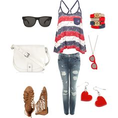 fun in the sun :) my first Polyvore creation