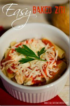 baked ziti recipe... easy instructions