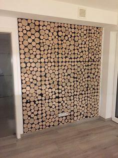 Echtholzverblender 3D/Wandverkleidung 3D Holz/WIDE weiß - Wood Panel ...