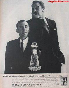 Vincent Price Vintage Advertisements, Vintage Ads, Contrast Art, Horror Movies, Horror Film, Vincent Price, Horror Icons, Sport Icon, Tough Guy