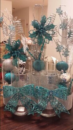 My own creations for winter wonderland decor