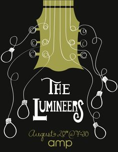 The Lumineers Gig Poster by Sarah Bladdick, via Behance Tour Posters, Band Posters, Music Posters, Concert Posters, Gig Poster, Concert Rock, Music Crafts, Indie Art, Expressive Art