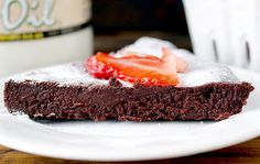 Flourless Chocolate Cake with Golden Barrel Coconut Oil