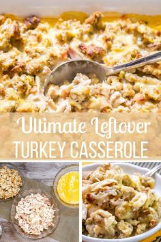 Delicious one-pan turkey casserole. I always make extra dressing to make sure I have plenty left to make this Leftover Turkey Casserole. Leftover Turkey Casserole, Leftover Turkey Recipes, Cold Meals, One Pot Meals, Tasty Dishes, Food Dishes, Thanksgiving Leftovers, Cooking Turkey, Budget Meals