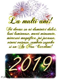 Felicitari de anul nou 2019 - La multi ani! An Nou Fericit, Fabre, New Year Wishes, Christmas Wallpaper, Motto, Happy New Year, Diy And Crafts, Samba, Happy Birthday