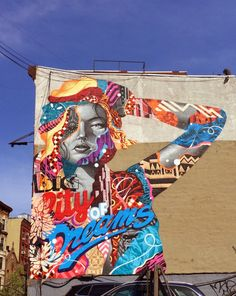 "The one and only Tristan Eaton is back in New York City where he crushed a new mural entitled ""Big City Dreams."" Organized by the LISA Project, Eaton went big, bold and colourful as per usual. Like Graffiti then check  http://graff-art-shop.myshopify.com/ #graffiti #graffitiart #graff"