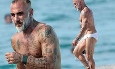 Italian millionaire Gianluca Vacchi shows off beach body in speedos