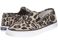Sperry Top-Sider - Seaside Animal (Tan Leopard) Women's Slip on Shoes Leopard Slip On, Women's Slip On Shoes, Sperry Top Sider, Shoes Online, Sperrys, Steve Madden, My Style, Boots, Heels