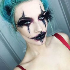 "My first Halloween look of 2016 I hope you like it! I made my own lashes out of feathers I got from Amazon and it was a proud moment for me   I used:  @maccosmetics black black chromaline with nightmoth lip pencil for eyes and lips.  @sugarpill poison plum  @litcosmetics ""goth"" glitter  @katvondbeauty shade & light palette.  @anastasiabeverlyhills ""medium brown"" dipbrow pomade  #erikamariemua"