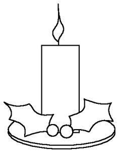 christmas candle coloring pages | Christmas Time Together - Christmas ...