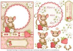 HAVE A MICE DAY topper or aperture and decoupage on Craftsuprint designed by Janet Briggs