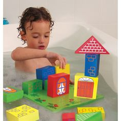 Another way to make bathtime, a very educational time! This will help enhance the toddlers sensorimotor skills!