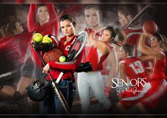 Softball, Basketball, Volleyball Sports Composite Senior Picture Idea - Sports Senior Picture Ideas - Seniors by Photojeania Unique Senior Pictures, Country Senior Pictures, Senior Pictures Boys, Senior Girls, Senior Photos, Senior Session, Senior Posing, Graduation Pictures, Graduation Ideas