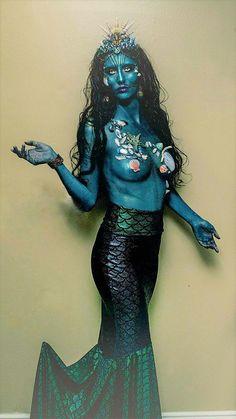 Sirena escala falda cola de traje Lycra del estiramiento