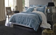 $230 - Queen quilt cover barquet tailored quilt cover - quilt covers - bedroom   Sheridan