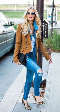 Distressed denim is a favorite of Heather's {Style By Fluent}
