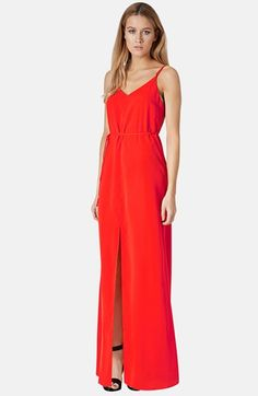 Topshop Cross Back Woven Maxi Dress | Nordstrom