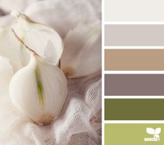 Gray, Brown, Green - office color palette