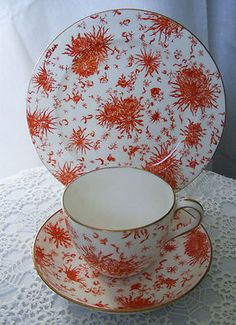 14.99 ROYAL CROWN DERBY 1893 Antique Trio Tea Cup Saucer Plate English Bone China vgc