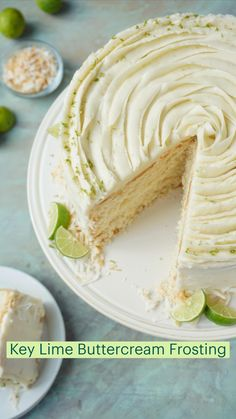 Cake Frosting Recipe, Frosting Recipes, Cake Recipes, Key Lime Buttercream, Buttercream Frosting, Key Lime Flavor, Dessert From Scratch, Fun Baking Recipes, Cake Decorating Tips